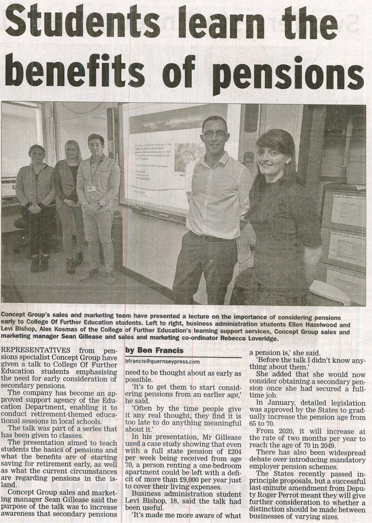 Students learn the benefits of pensions 3
